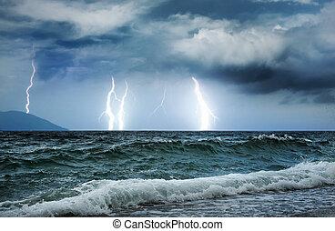 burza, ocean