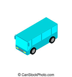 Bus airport isometric 3d icon