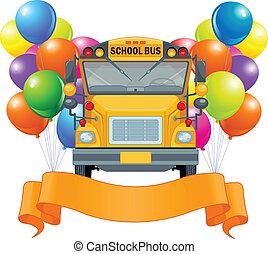 bus, amerikaan, school