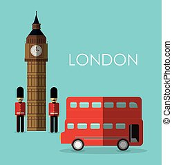 bus big ben london england design