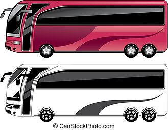 bus - two color bus.