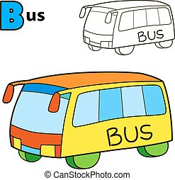 Bus. Coloring book page