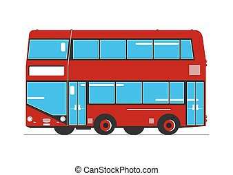 bus., decker, ダブル
