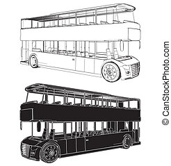 Bus Double Decker Vector