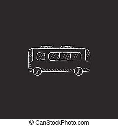 Bus. Drawn in chalk icon.