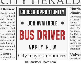 Bus driver career