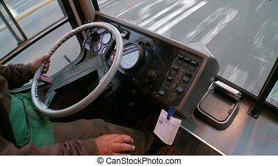 Bus Driver, South America, Peru, Lima