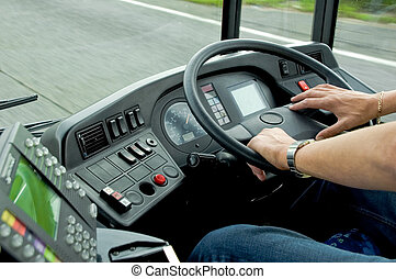 Bus Driving - Concentration while driving a bus at 50mph