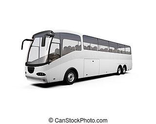bus, freigestellt, ansicht