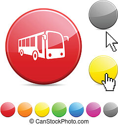 Bus glossy button.