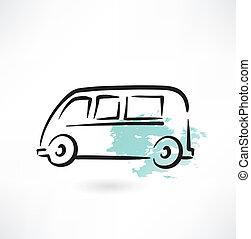 bus grunge icon