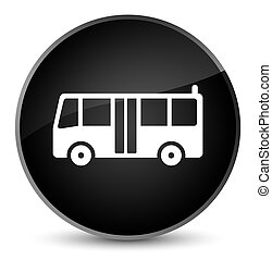 Bus icon elegant black round button