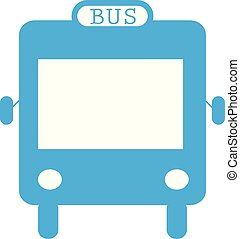 bus icon flat design style on white background. bus sign.