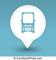 bus, icon for web
