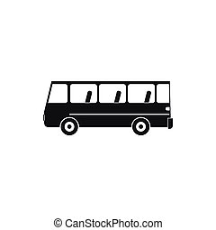 Bus icon in simple style