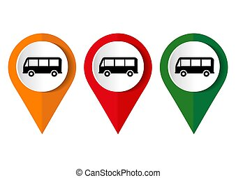 Bus icon on a white background. Vector illustration.