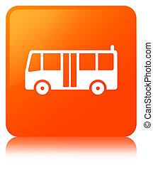 Bus icon orange square button