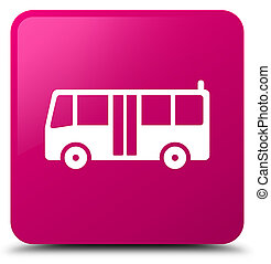 Bus icon pink square button