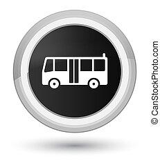 Bus icon prime black round button