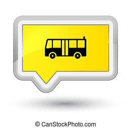 Bus icon prime yellow banner button