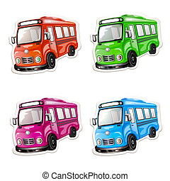Color car collection.