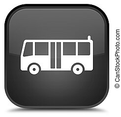 Bus icon special black square button