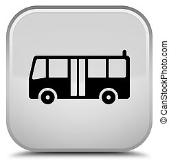 Bus icon special white square button
