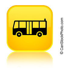 Bus icon special yellow square button