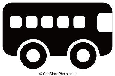 Bus Icon - simple icon of a bus in white background