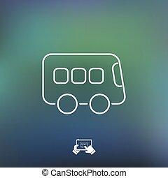 Bus icon - Thin series