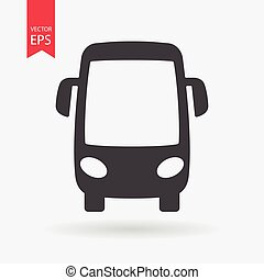 Bus Icon Vector. Flat design. Bus sign isolated on white background.