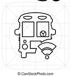 Bus icon. Vector illustration. Isolated on white background