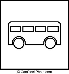 Bus icon vector illustration isolated