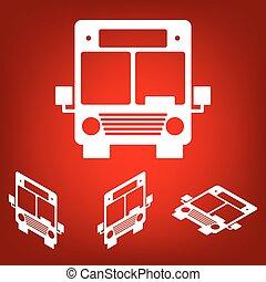 Bus icon. Vector illustration set