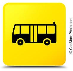 Bus icon yellow square button
