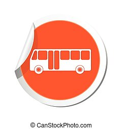 bus, illustratie, vector, icon.