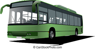 bus images. Vector illustration