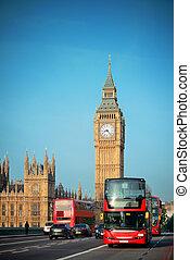 bus, in, london