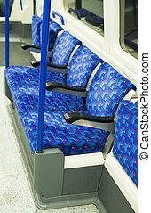 Bus Interior at public transport.