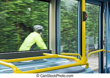 Bus Interior at public transport