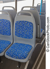 bus interior without people on white background