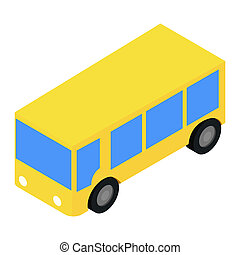 Bus isometric 3d icon
