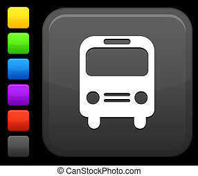bus, knoop, plein, pictogram, internet