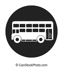bus london isolated icon