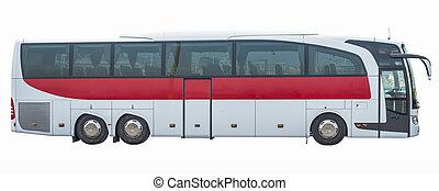 Bus on isolated white background