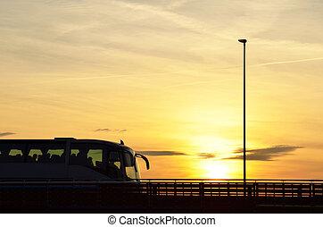 Bus over the bridge