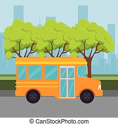 bus public transport icon vector illustration design