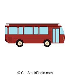 Bus public transport vehicle isolated vector illustration