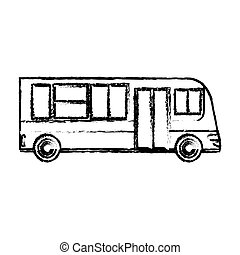 bus public transport vehicle sketch