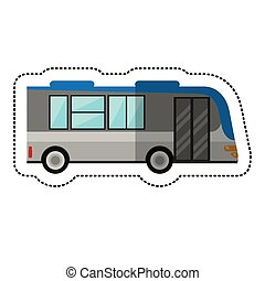 bus public transport vehicle vector illustration eps 10